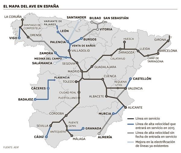 Mapa Ave España 2019.Miercoles 5 De Junio De 2019 Web De Baza